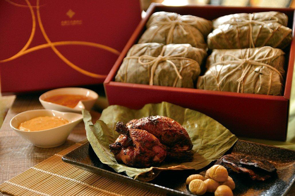 美麗信花園酒店推出創意的粽中雞。圖/美麗信花園酒店提供