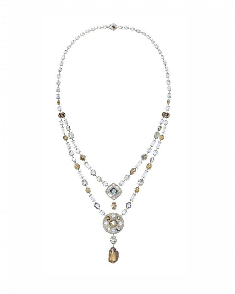 De Beers Talisman高級珠寶系列鑽石項鍊,1,255萬元。圖/De...
