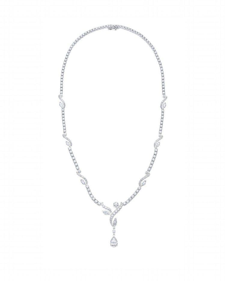 De Beers Adonis Rose高級珠寶鑽石項鍊,2,240萬元。圖/D...