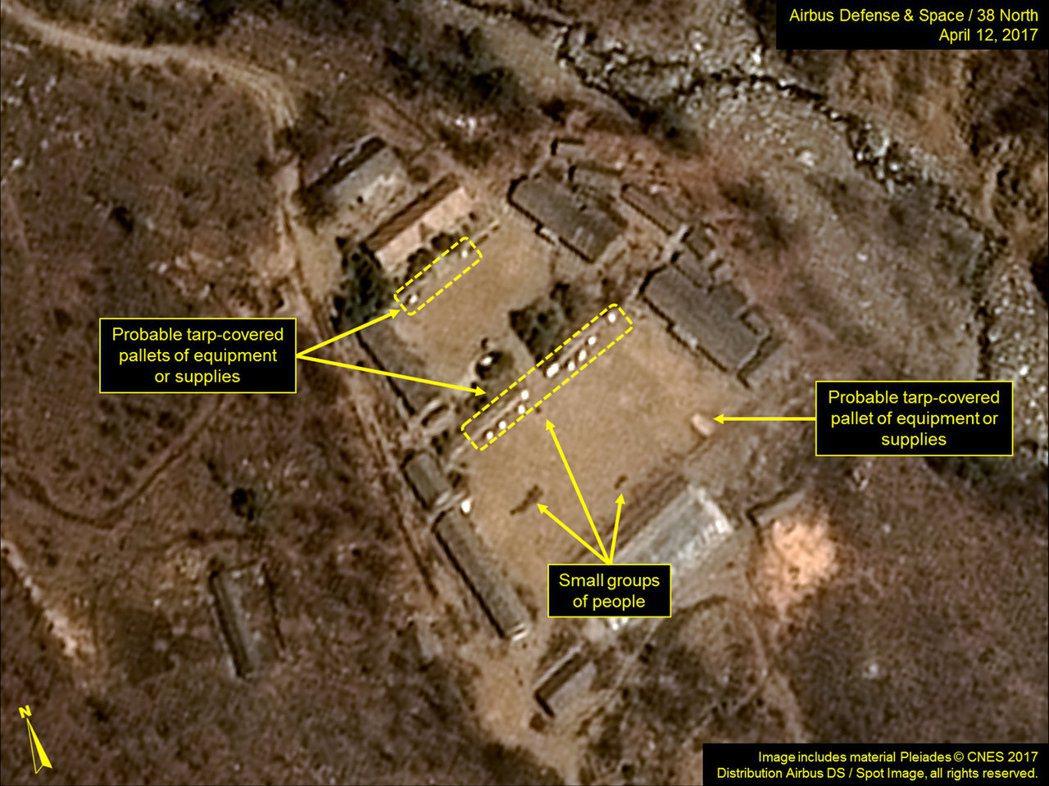 「產經新聞」指出,15日前,中國大陸當局擔心美國攻擊北韓的化武設施,會有輻射物質...