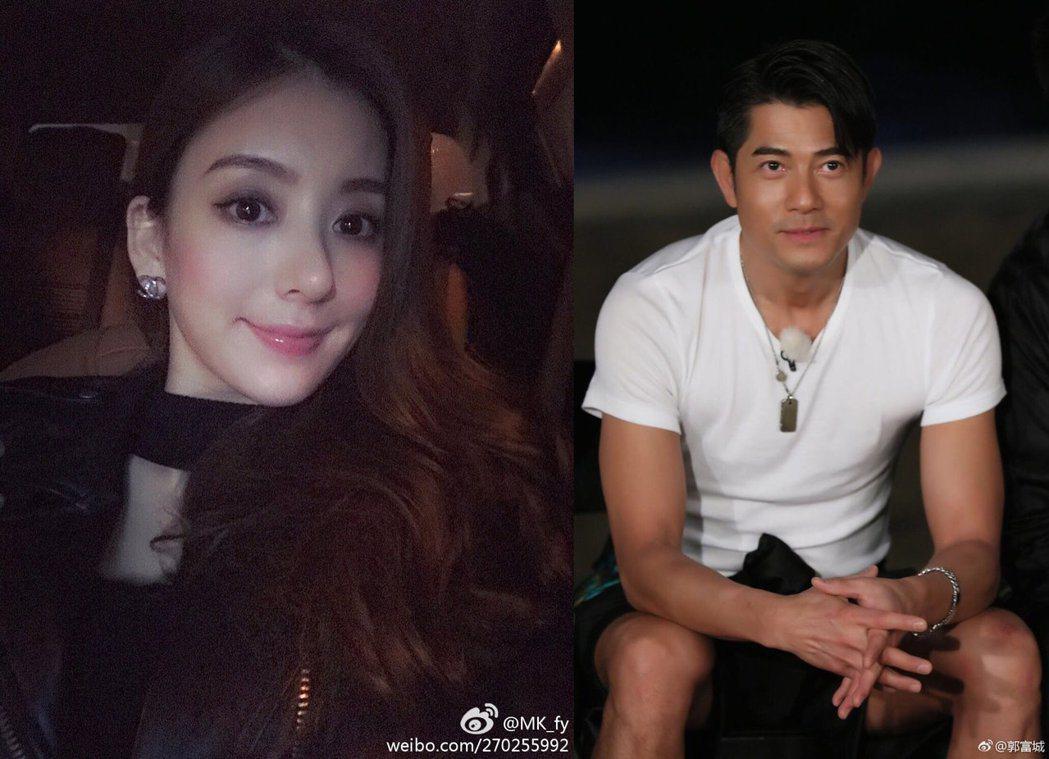 郭富城(右)傳出18日將娶女友方媛(左)。 圖/擷自微博