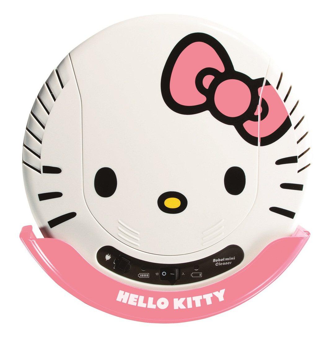 群光推出Hello Kitty掃地機器人。(圖:群光提供)