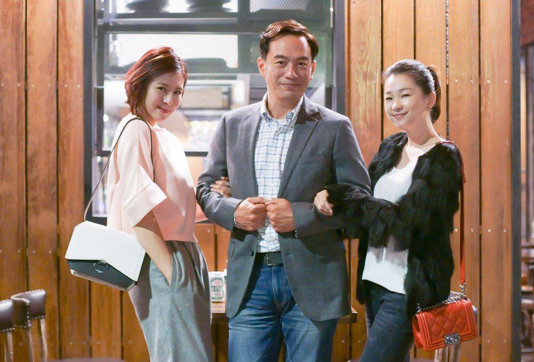 劉品言(左起)在「酸甜之味」中疑似介入張翰、六月婚姻。圖/TVBS提供