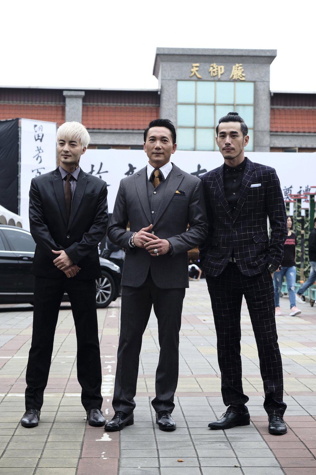 「角頭2-王者再起」古斌、鄒兆龍以及黃騰浩飾演外省幫派。圖/理大國際提供