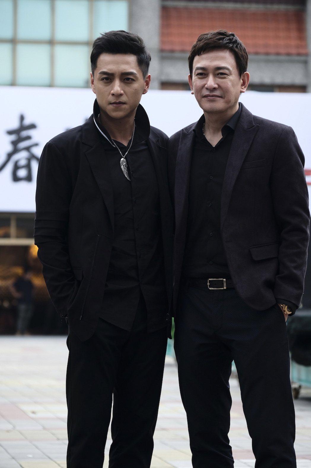 「角頭2-王者再起」鄭人碩(左)、王識賢(右)飾演本省幫派。圖/理大國際提供