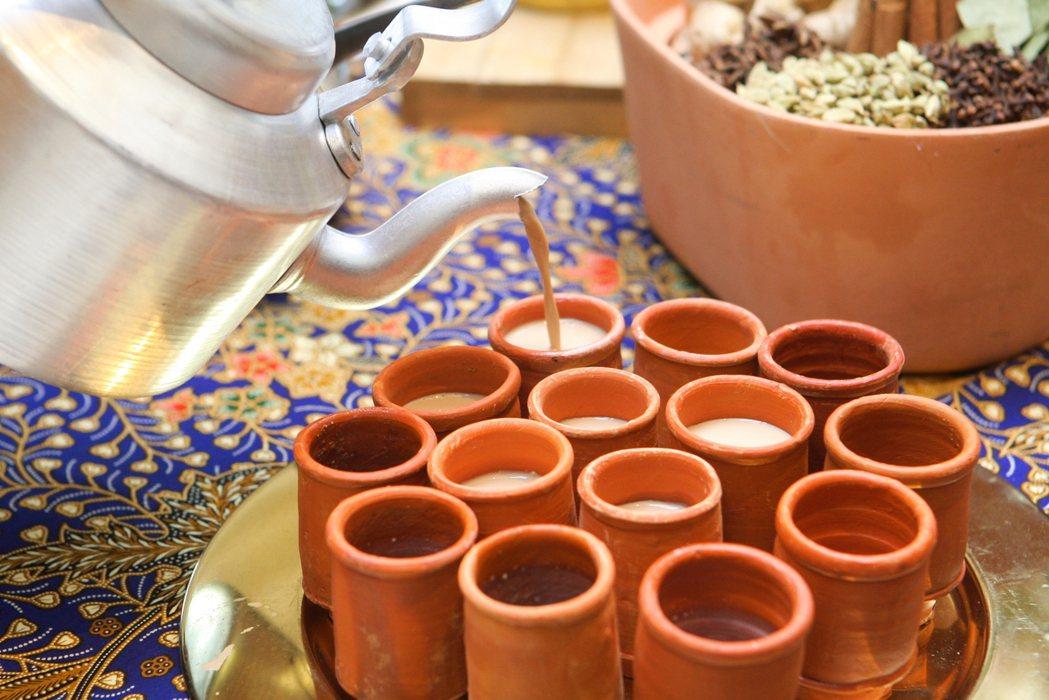 口味香甜的印度拉茶。記者陳睿中/攝影