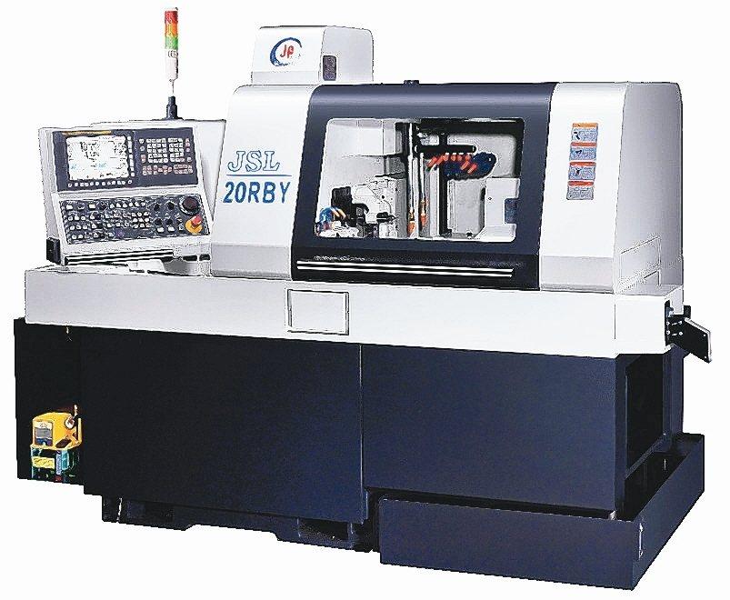 縉錩研製JSL-20RBY CNC走心式車銑複合加機。 縉錩公司/提供