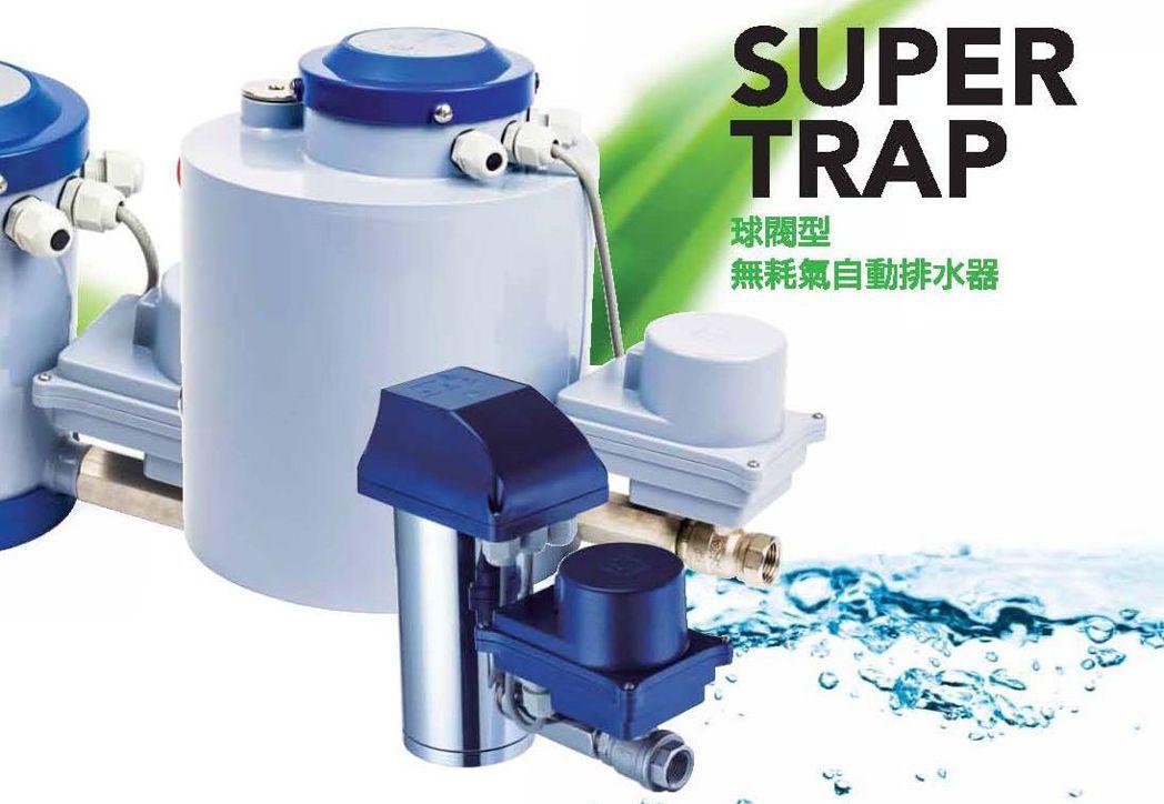 空壓機搭配「Super Trap球閥型無耗氣自動排水器」,能提高效能,讓設備運轉...