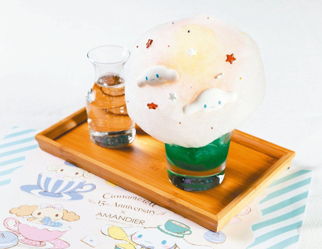 大耳狗喜拿推出清爽的「喜拿棉花糖藍柑橘汽水」。 台灣三麗鷗/提供
