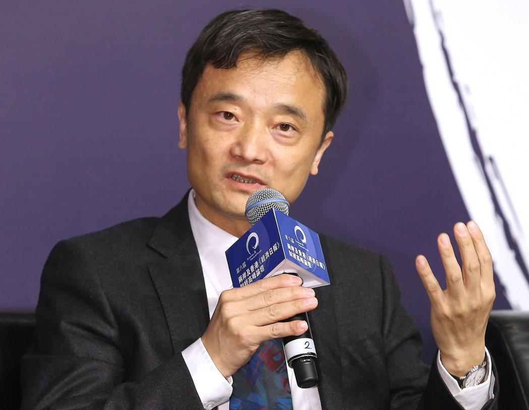 中國經濟景氣監測中心副主任潘建成。聯合報記者高彬原/攝影