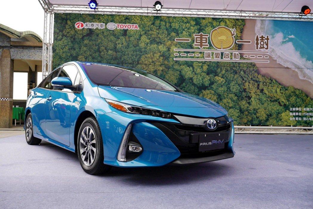 圖為Toyota Prius PHV。 記者陳威任/攝影