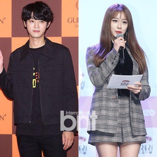 歌手鄭俊英和女團T-ARA成員智妍傳已交往一個月。 圖/DB