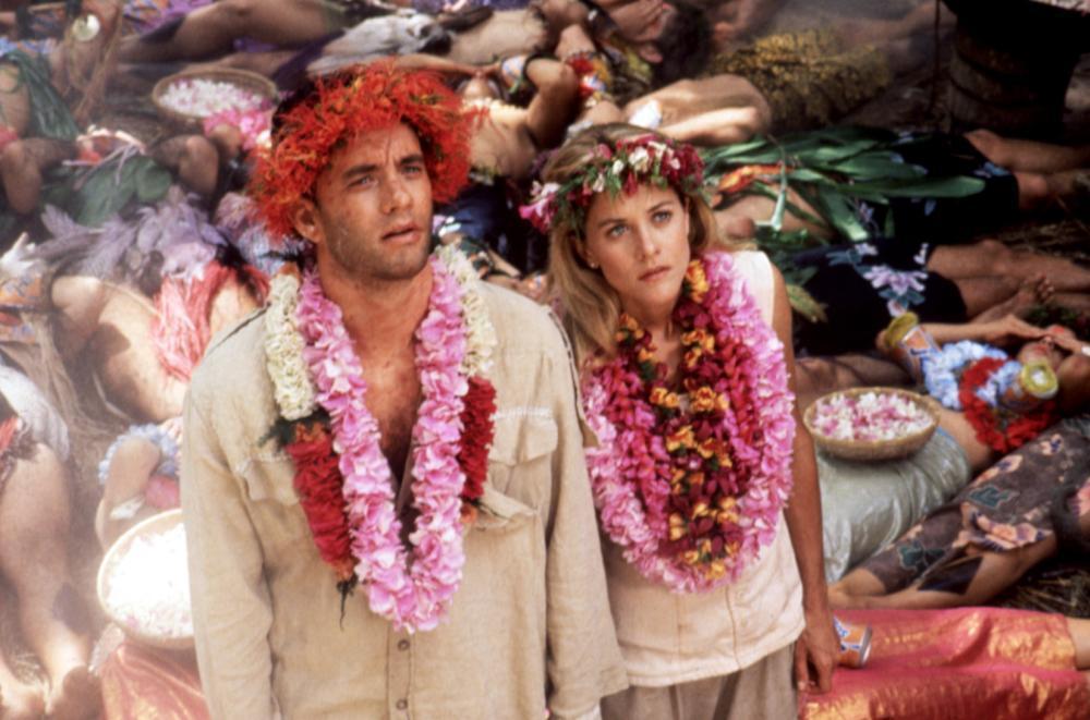「跳火山的人」是湯姆漢克斯與梅格萊恩首度合作的奇想喜劇。圖/摘自Cineplex