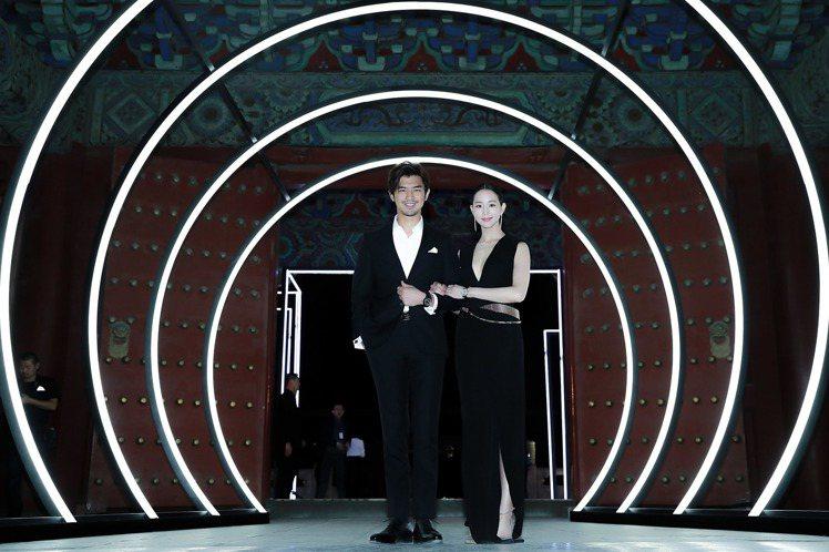 陳柏霖與張鈞甯難得同框,男帥女美,成為當晚最好的畫面之一。圖/IWC提供