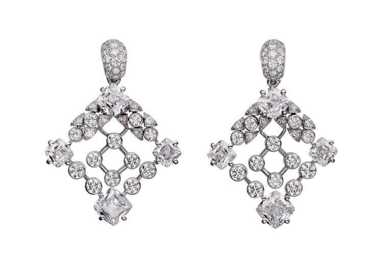 卡地亞Cartier Magicien頂級珠寶系列Sylphe鑽石耳環,白K金、...