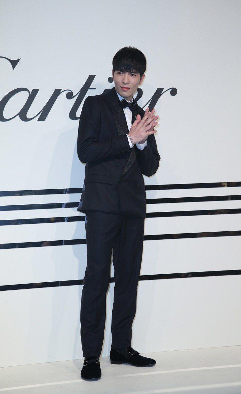 蕭敬騰出席卡地亞珠寶晚宴。圖/記者陳瑞源攝影