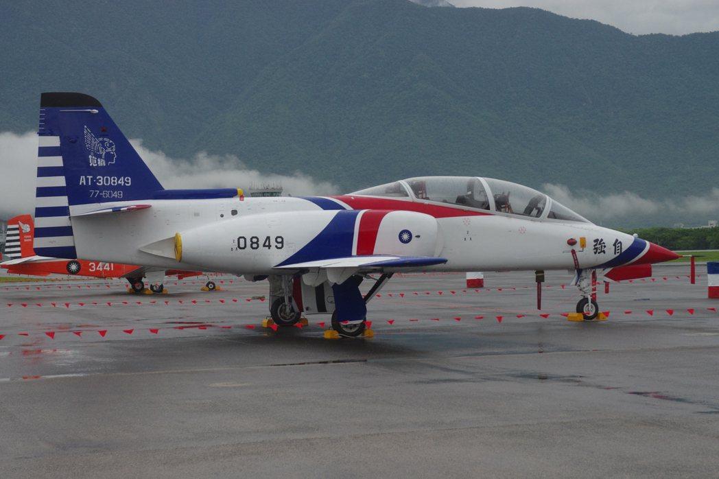 AT-3教練機。聯合報系資料照記者程嘉文攝影