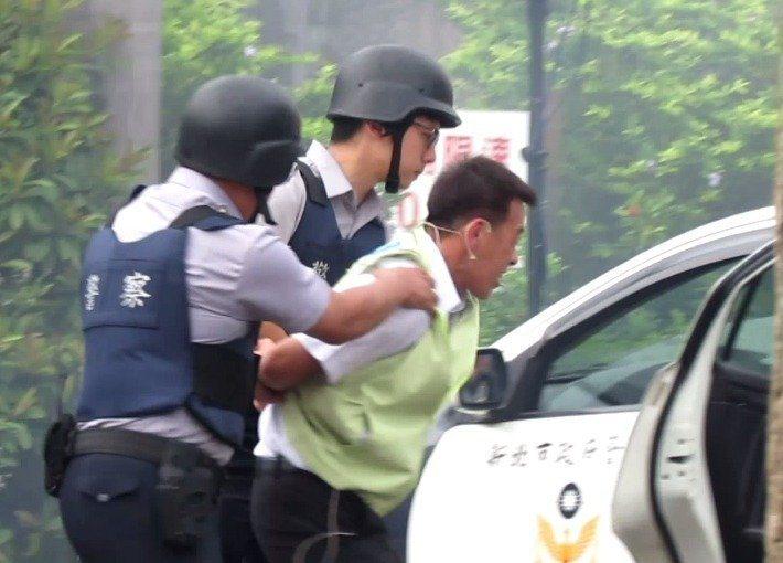 板橋警分局反恐操練。 報資料照片本