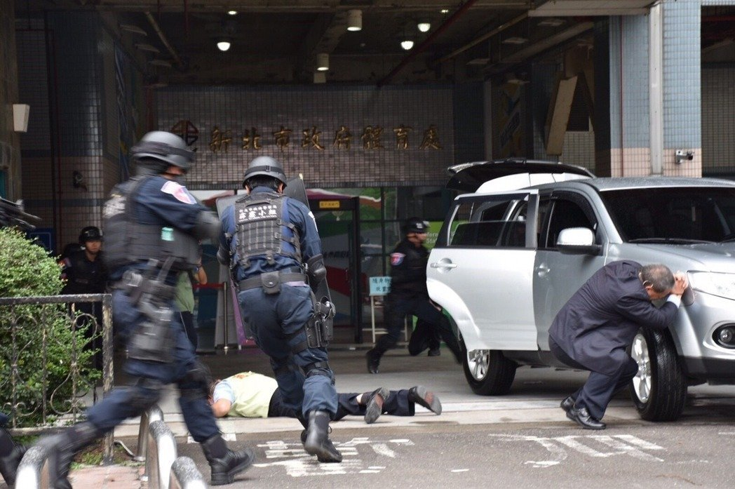 板橋警分局,日前舉行反恐實際操練。本報資料照片