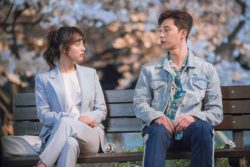 朴敘俊和金智媛的浪漫情侶照。 圖/Pan娛樂