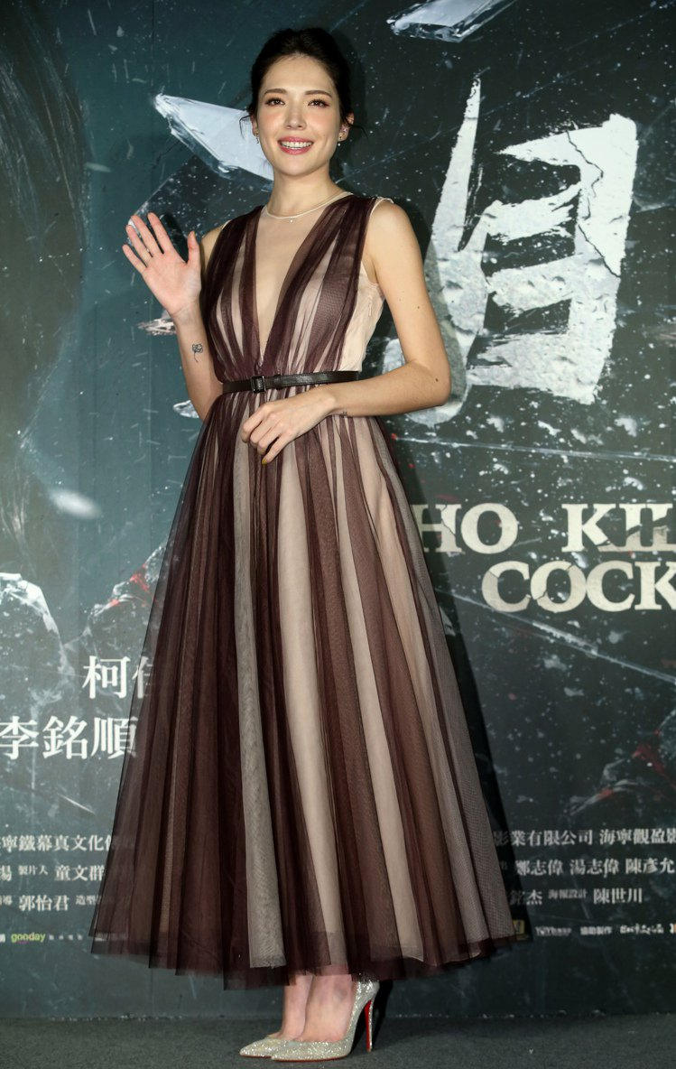 許瑋甯近日穿著H&M 2017年度 Conscious Exclusive 紗裙...