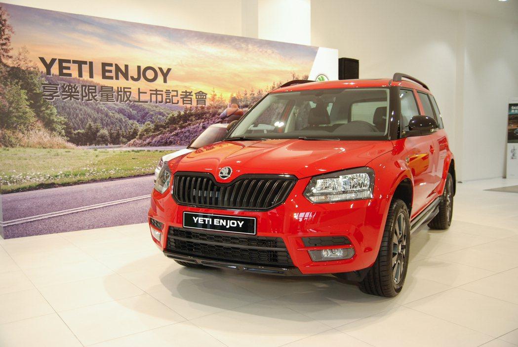 此次限量加碼全景電動天窗的 Škoda Yeti enJoy 享樂特仕車是以 1.2 TSI Ambition 魅力款車型為基礎,並增添多項 Monte Carlo 套件。 記者林鼎智/攝影