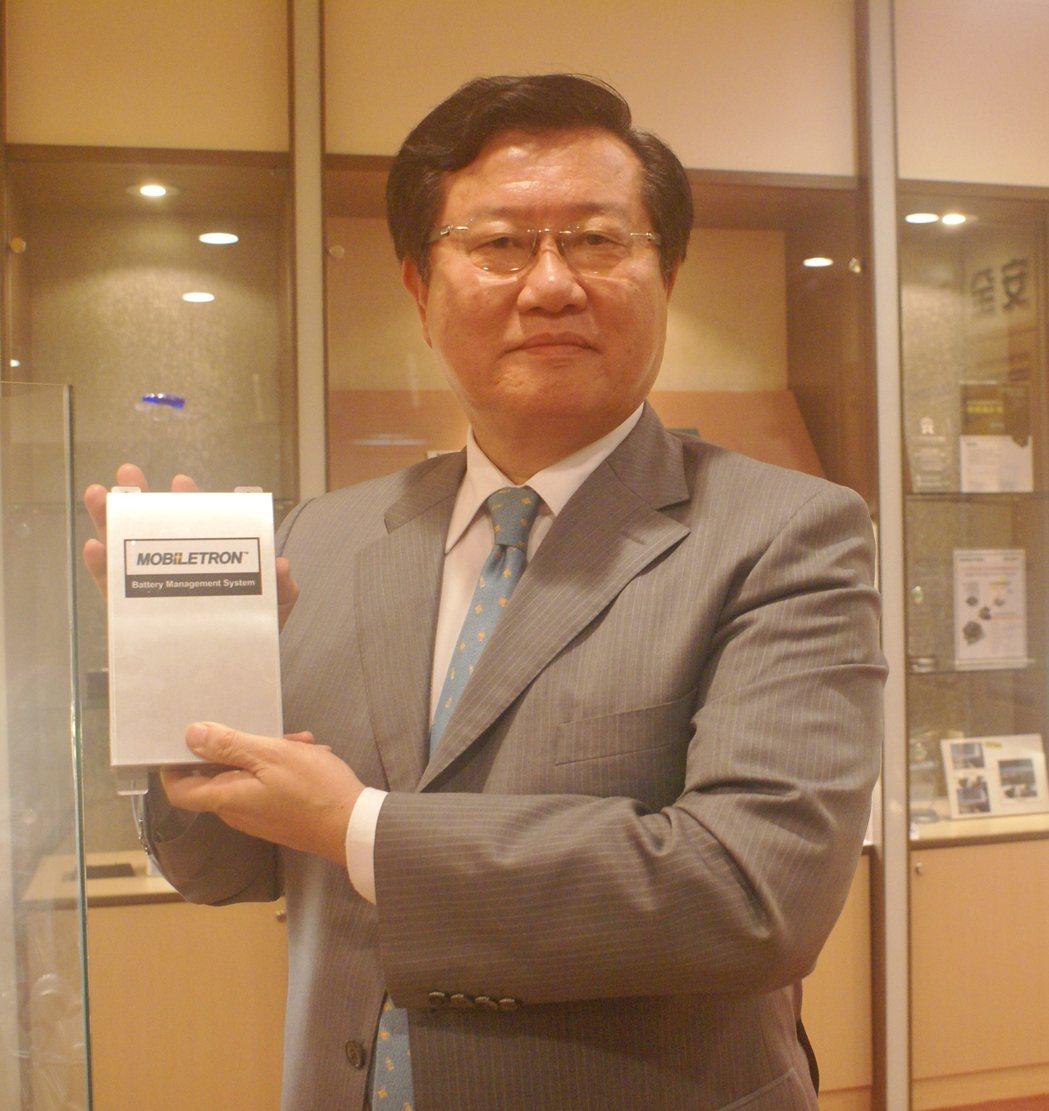 車王電董事長蔡裕慶。 吳青常/攝影