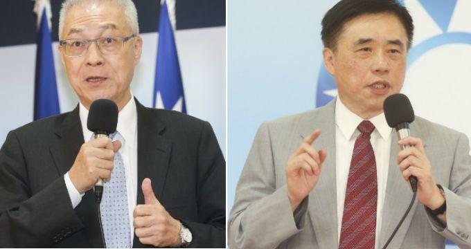 國民黨主席選舉媒體民調,吳敦義郝龍斌前2名。 圖/本報資料照