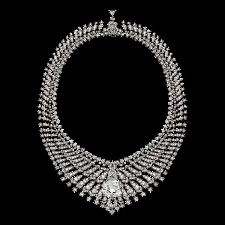 頂級珠寶系列鑽石項鍊,鉑金鑲嵌重34.96克拉DIF type IIa枕形明亮式...