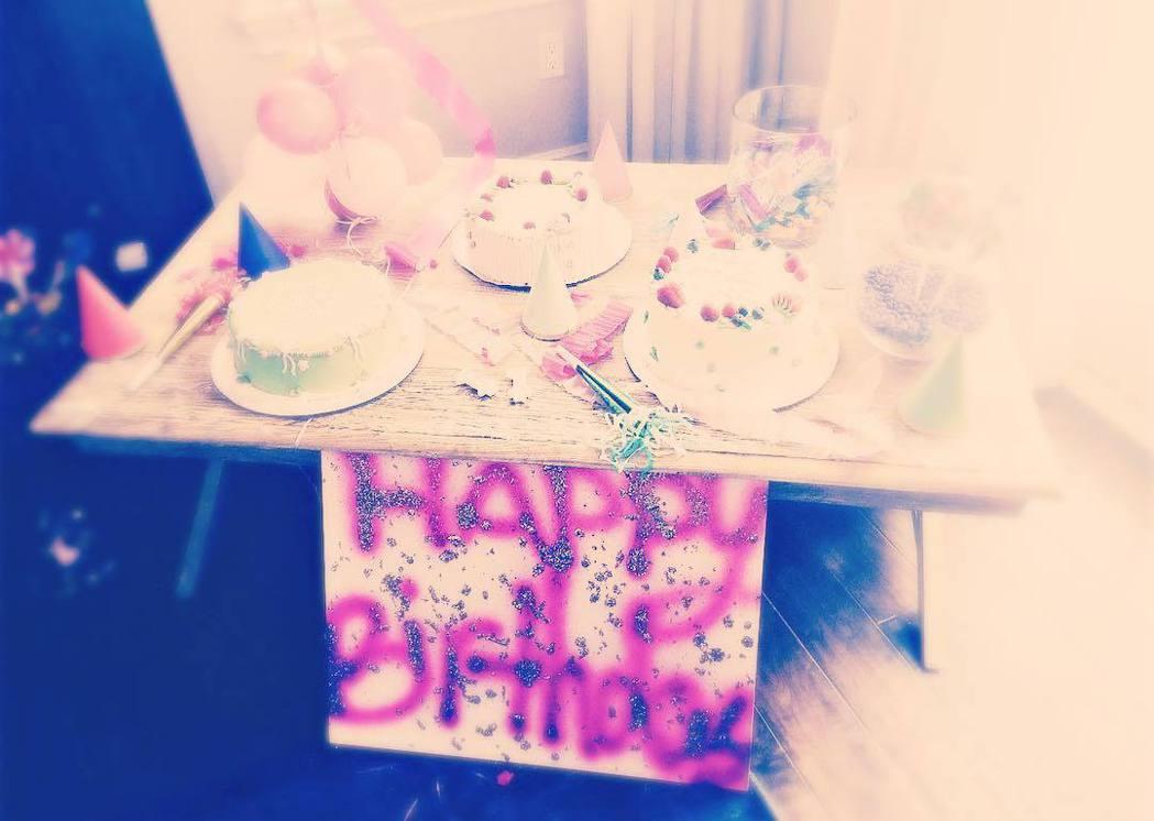 蘇蕊的11歲生日有3個蛋糕。圖/摘自Instagram