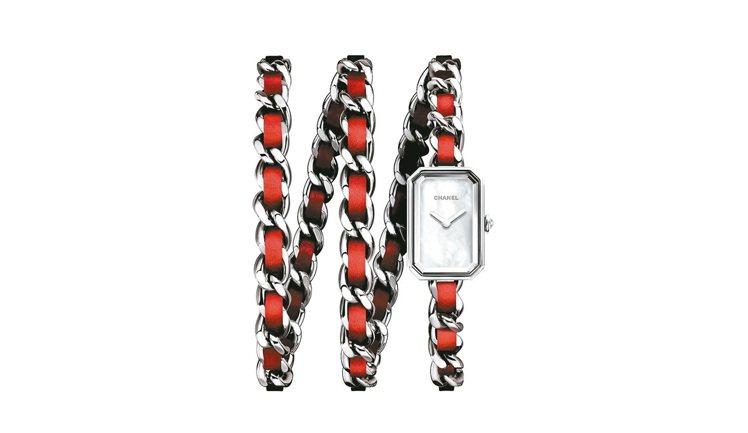 香奈兒Première ROCK紅色腕表,石英機芯,約14萬3,000元。 圖/...