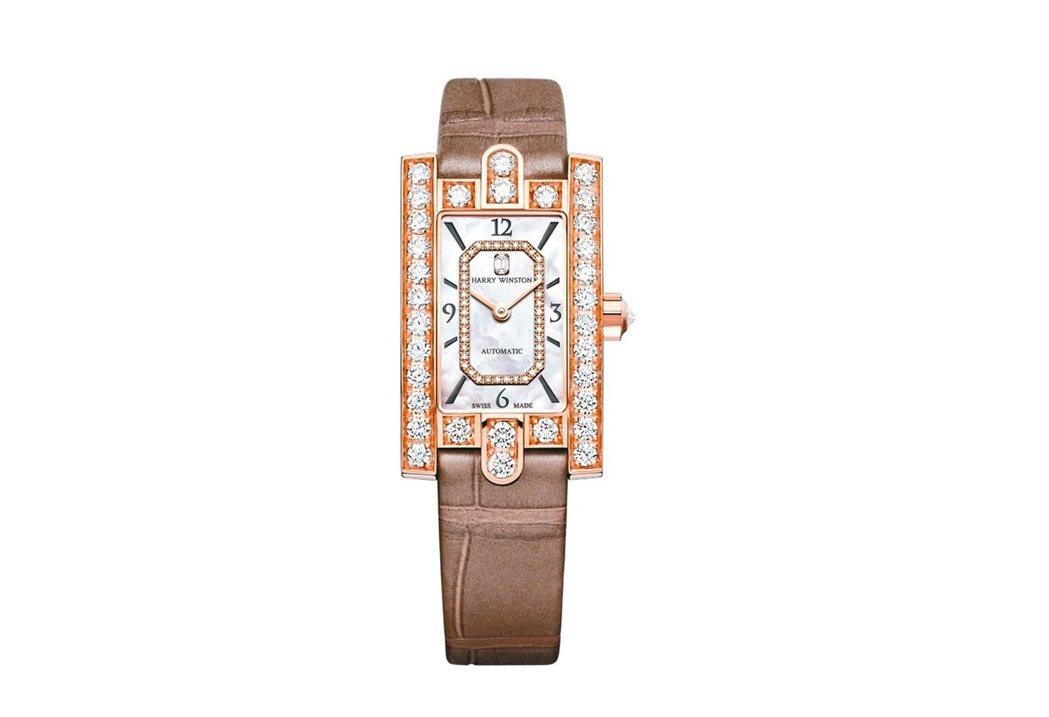 海瑞溫斯頓 Avenue Classic自動腕表,18k玫瑰金,自動機芯,131...