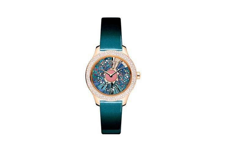 Dior Garnd Bal天鶴座腕表,自動機芯,18k玫瑰金表殼,36mm,限...