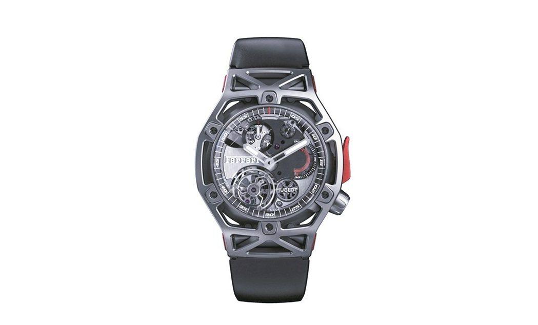 Techframe Ferrari 70周年陀飛輪計時碼表,手上鍊機芯,鈦金屬款...