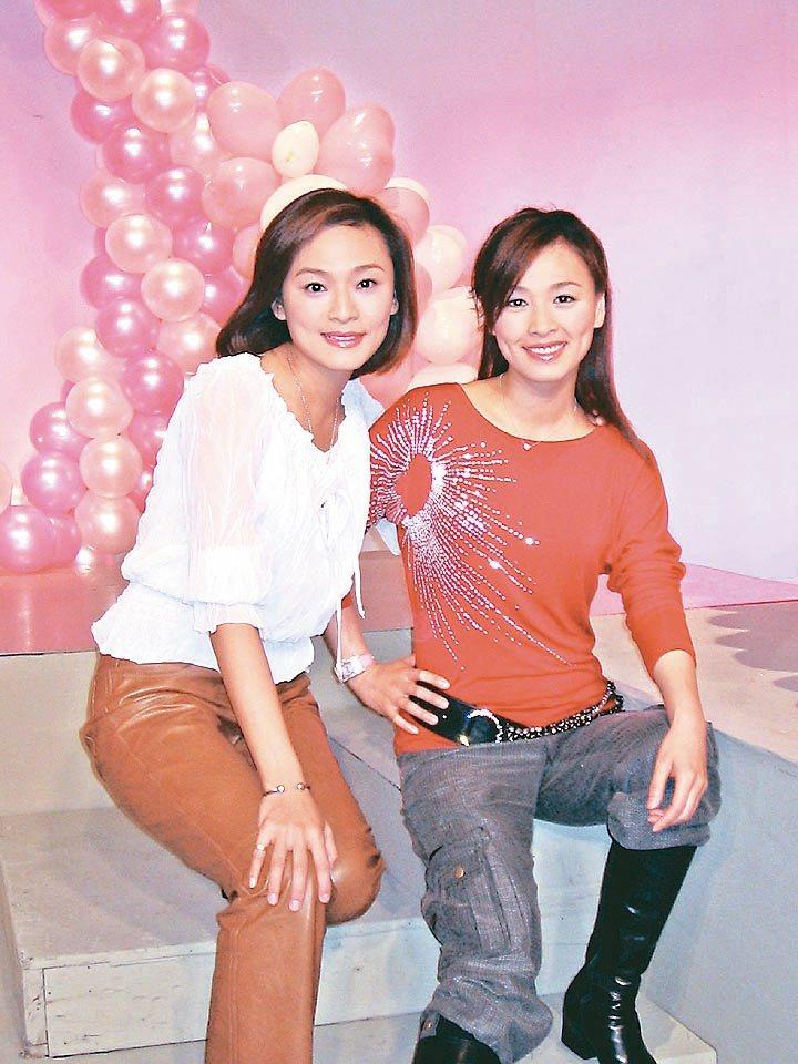 張庭(右)和梁家榕(左)因為拍「花系列」成為好姐妹。 圖/報系資料照