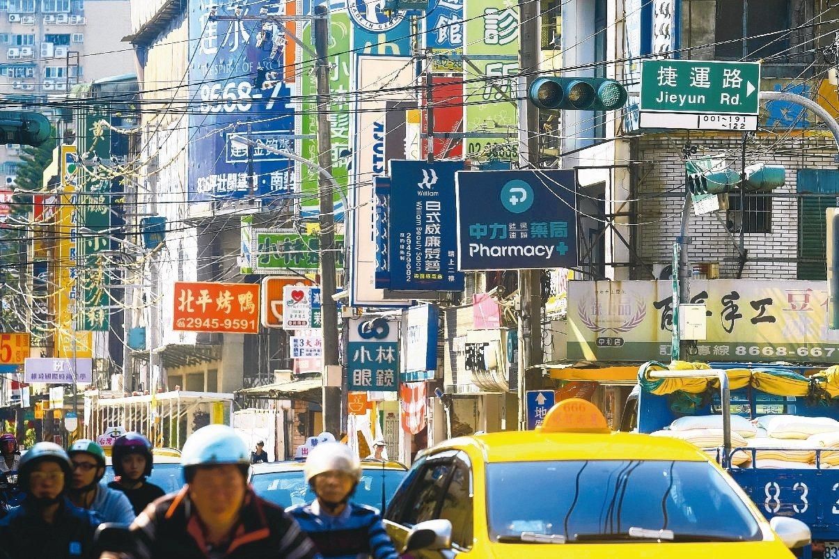 中和區捷運路週邊商圈為新北市店面交易熱區。(報系資料照)