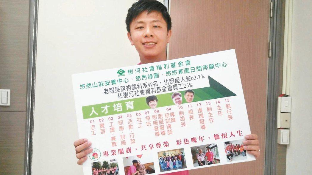 綽號阿龍的魏中龍,曾助插鼻胃管老人自行進食。 記者羅真/攝影