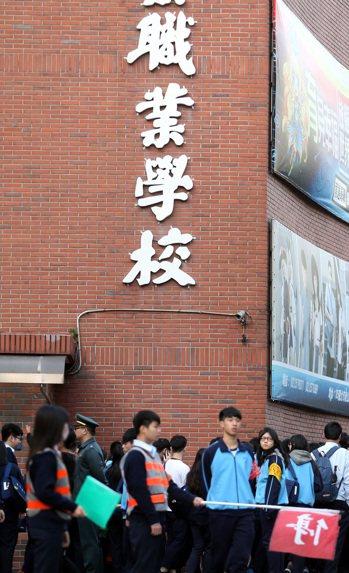 圖為台北一所商業職業學校。聯合報資料照/記者侯永全攝影