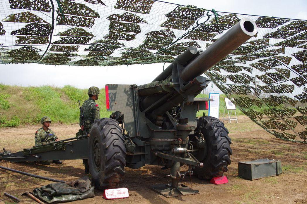 155公釐M114榴彈砲。 記者程嘉文/攝影