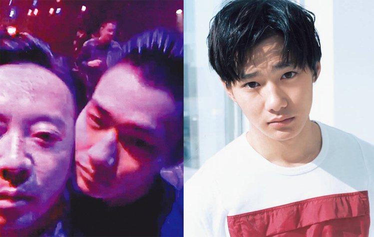 水原希子和男友野村周平(右)梳同款油頭(左)。圖/擷自instagram
