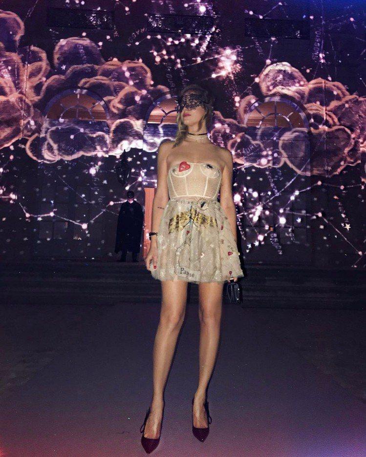 義大利時尚部落客Chiara Ferragni。圖/擷自pinterest