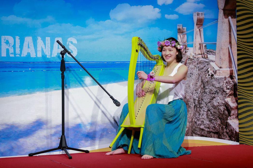 年輕的中山女高林語萱,獲得馬里亞納實習生殊榮。 馬里亞納觀光局/提供