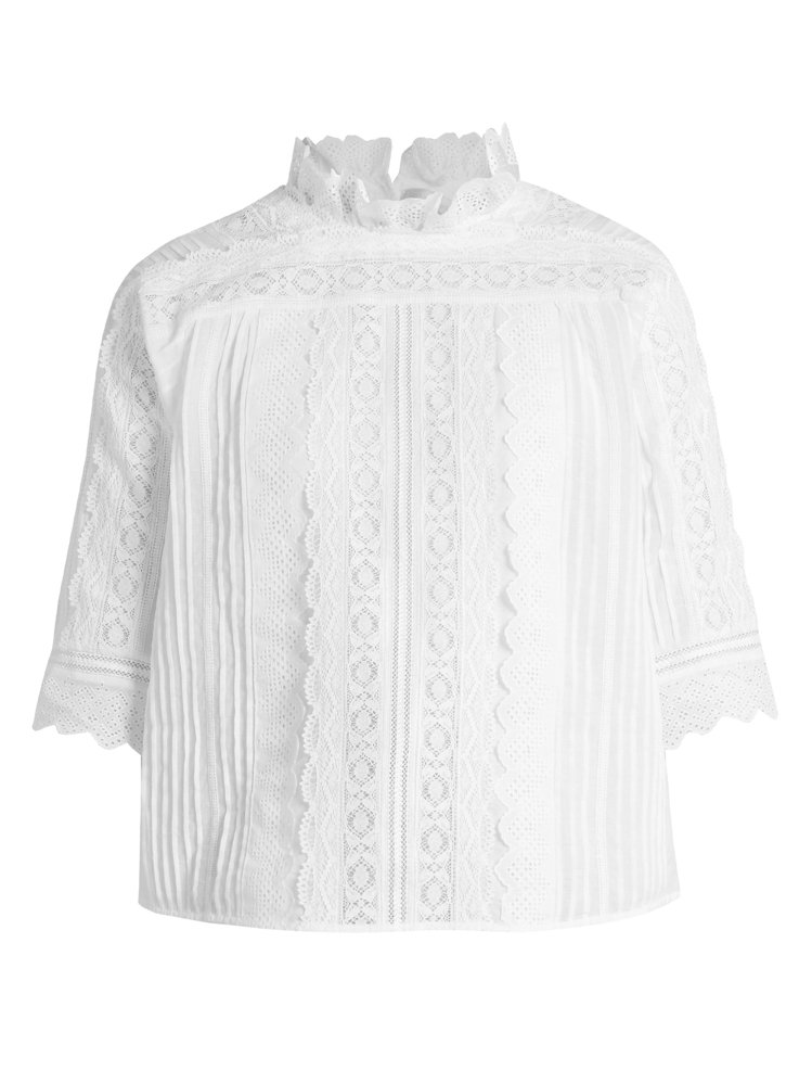 vanessabruno維多利亞風格蕾絲襯衫,售價18,680元。圖/vanes...