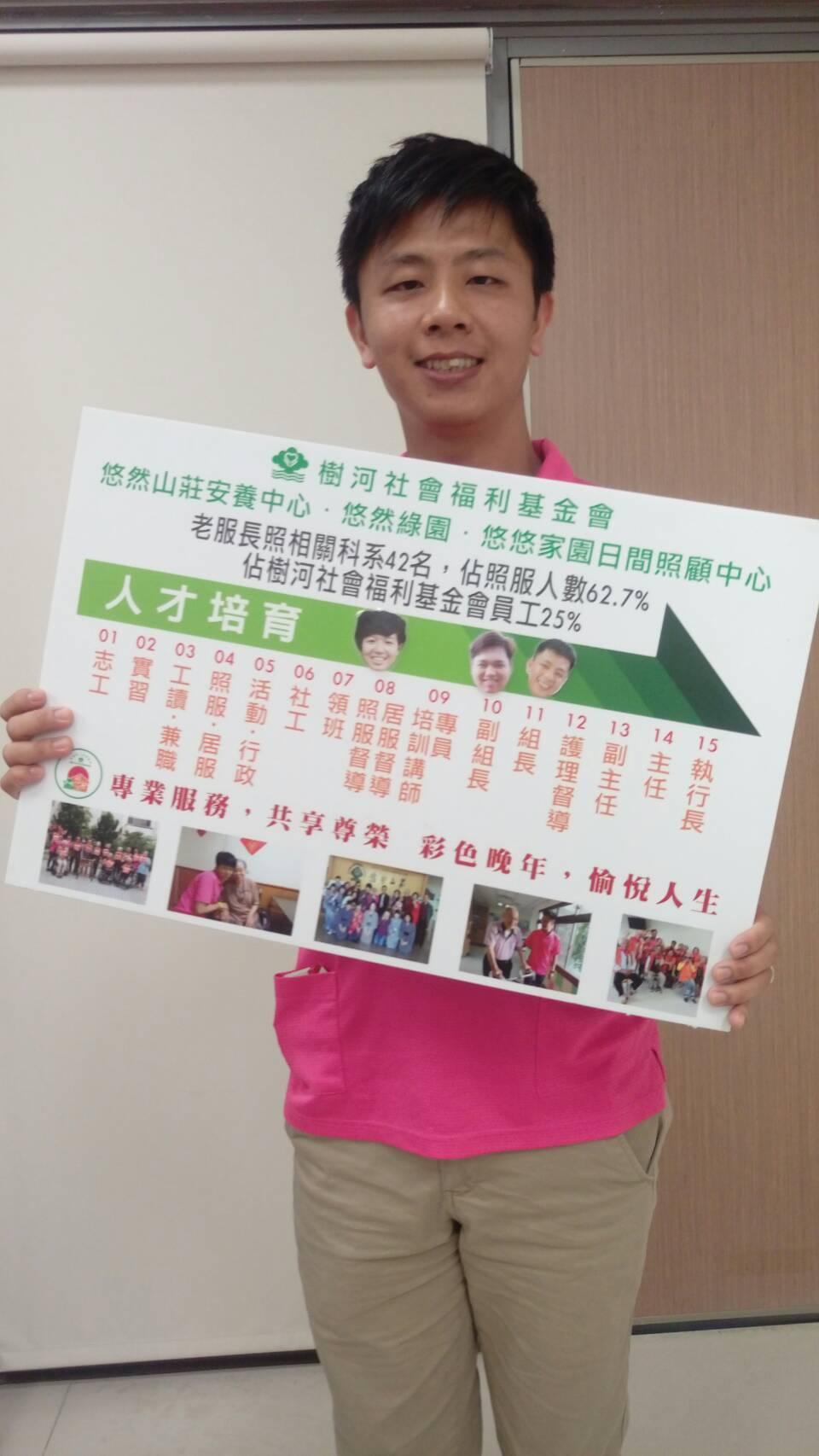 在長照領域年資有9年的魏中龍,目前任職悠然山莊安養中心照服組組長,他說,照顧工作...