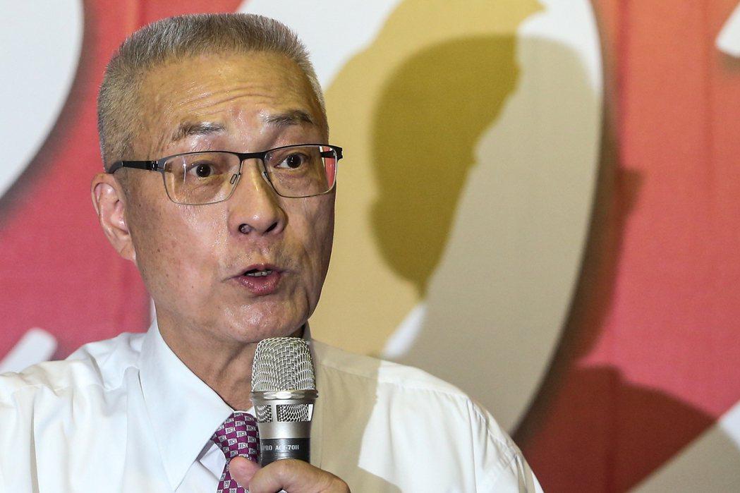 吳敦義表示,他是在友人的勸進下挺身而出參選國民黨主席。記者黃仲裕/攝影