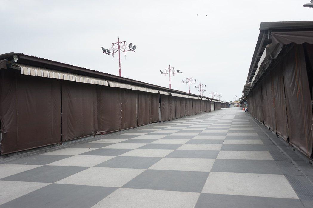 花蓮日出香榭大道將比照東大門夜市,鋪設黑白花崗石。記者王燕華/攝影
