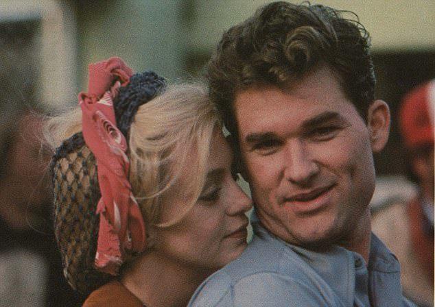 寇特羅素與歌蒂韓合演「小迷糊的情淚」擦出愛的火花。圖/摘自imdb