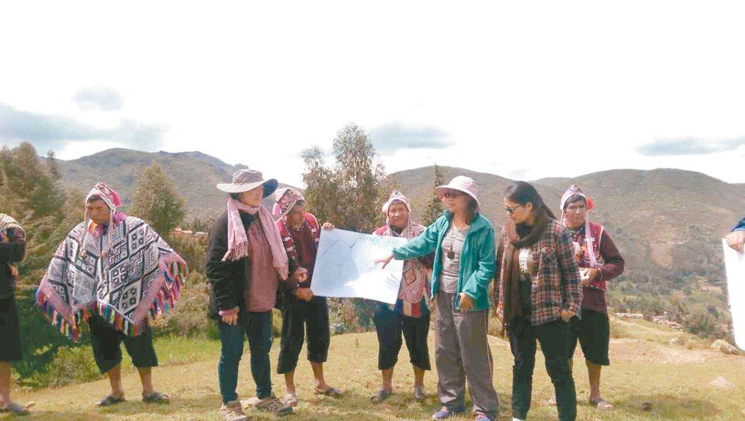 台灣原住民在國際高山族農夫大會為台灣發聲。 記者董俞佳/攝影