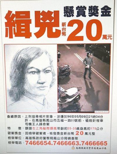 林金貴被控槍殺司機,2007年5月鳳山分局發出查緝專刊。 記者劉星君/翻攝