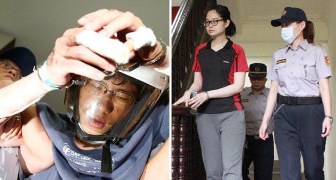 2014年9月當街殺林姓前女友的台大畢業生張彥文(左),以及八里媽媽嘴命案嫌犯謝...